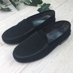 b66df548cb Tod's Black Suede Penny Loafers Driving Shoes 5.5